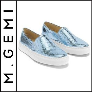"{ M. Gemi } NWT ""The Fresco"" Metallic Sneakers"